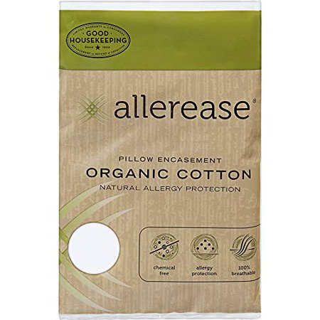AllerEase Organic Cotton Allergy Protection Pillow Protectors - Hypoallergenic, Chemical Free Zippered Pillow Protector, Allergist Recommended, Prevent Buildup of Dust Mites and Other Allergens, King