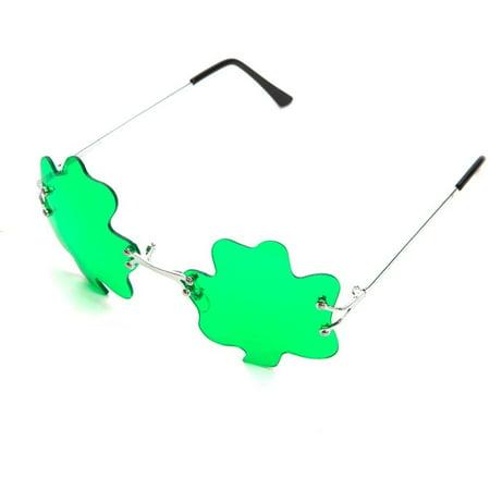 St. Patricks Day Green Shamrock Irish Clover Sunglasses, Brand new great value novelty Shamrock Sunglasses - St Patricks Day Sunglasses