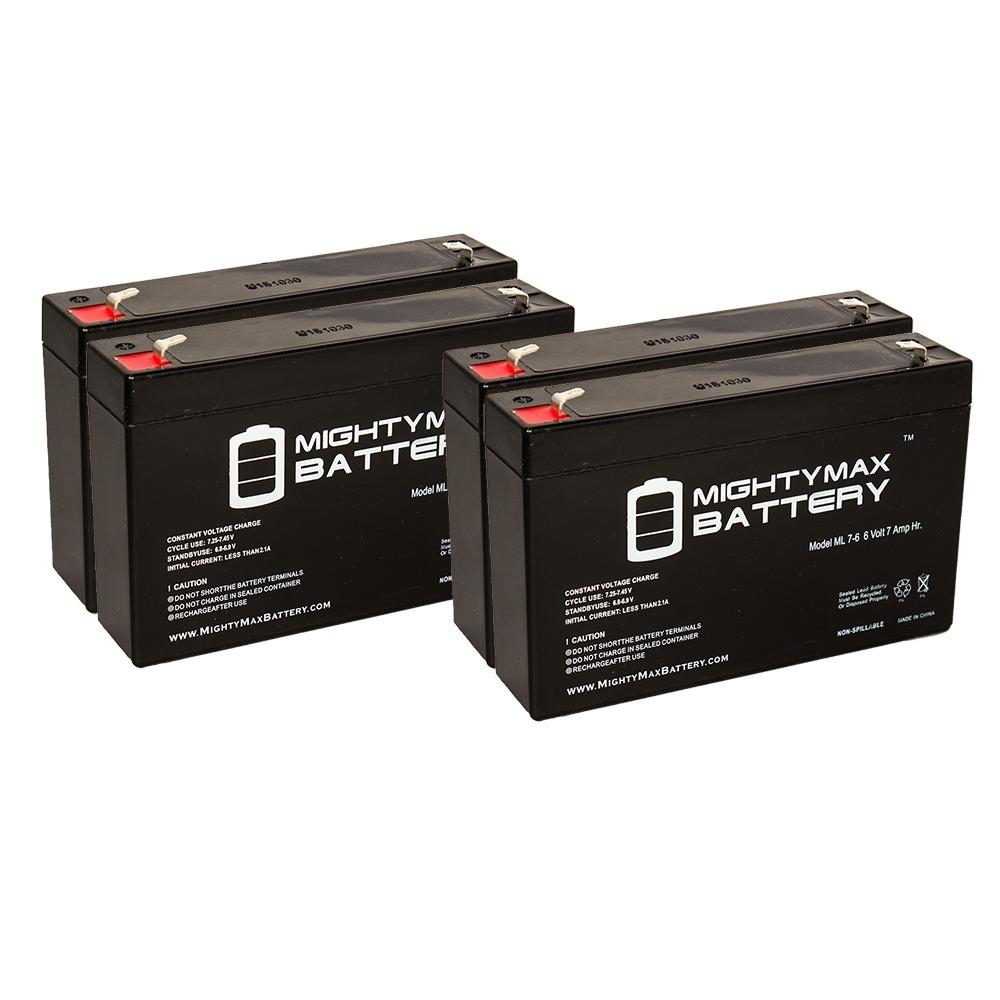 6v 7ah Sla Battery For Huffy Bmw X6 Toy Car Model 17034 4 Pack
