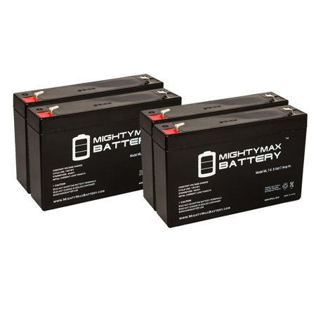 6v 7ah Sla Battery For Huffy Bmw X6 Toy Car Model 17034 4 Pack
