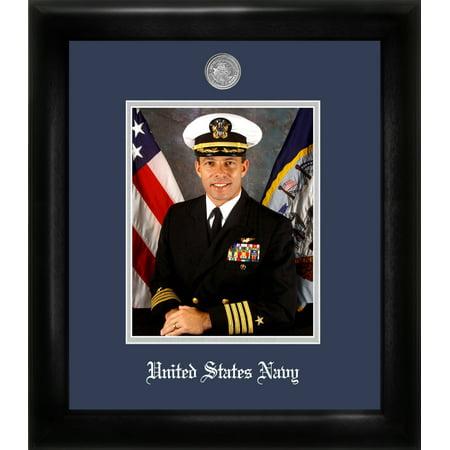 - Patriot Frame's Navy 8x10 Portrait Black Frame Silver Medallion