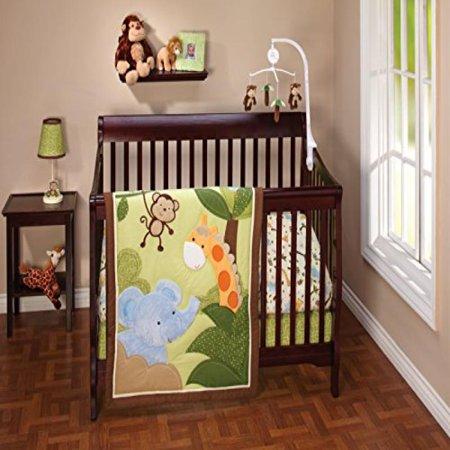 Little Bedding Jungle Time 3 Piece Crib Set Walmart Com