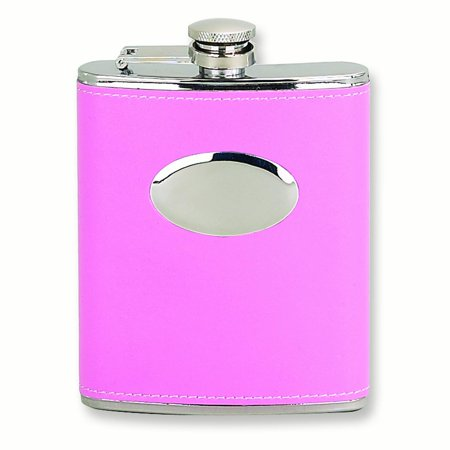 Stainless Steel 6 Oz Pink Faux Leather Flask Bar Wine Smoking Tankard Gifts For Women For