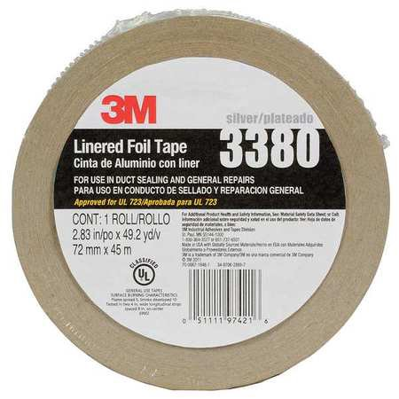 49 Yd  Foil Tape With Liner  3M  3380