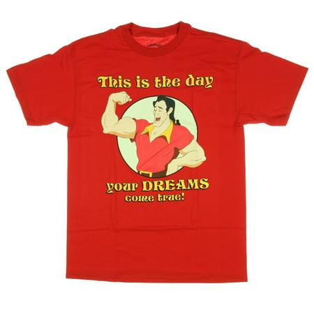 Disney Gaston Dreams Come True Mens T-Shirt