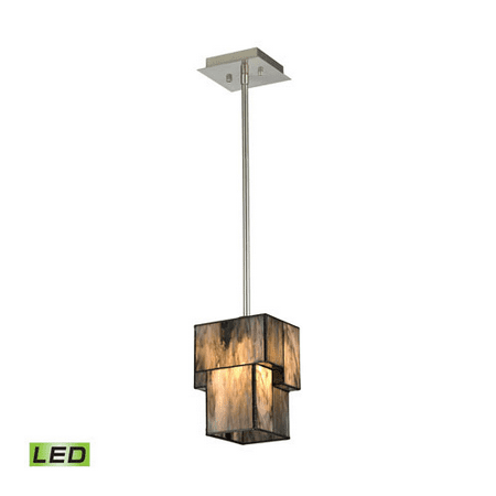 Pendants 1 Light LED With Brushed Nickel Finish 6 inches 13.5 Watts - World of Lamp