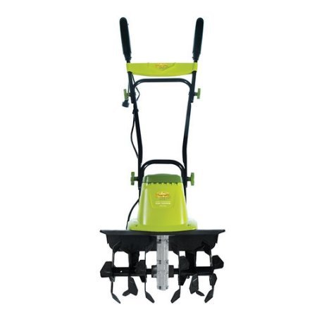 Sun Joe 12-Amp Electric Hand Push Garden Tiller and Cultivator with Rust Resistant- Green