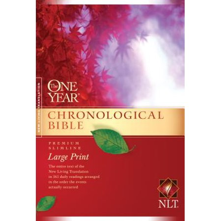 One Year Chronological Bible-NLT-Premium Slimline Large Print (Paperback)(Large (Living The Bible Literally For A Year)