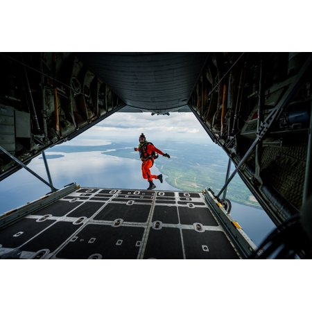 LAMINATED POSTER Royal Canadian Air Force jumpmaster Sgt. Glenn Hood, search and rescue technician with the 417 Comba Poster Print 24 x -