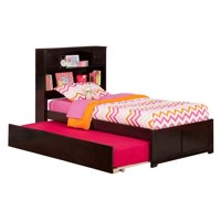 Leo & Lacey Urban Twin Trundle Platform Bed in Espresso