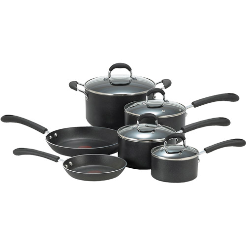 T-Fal Professional Total Non-Stick 10-Piece Cookware Set, Black