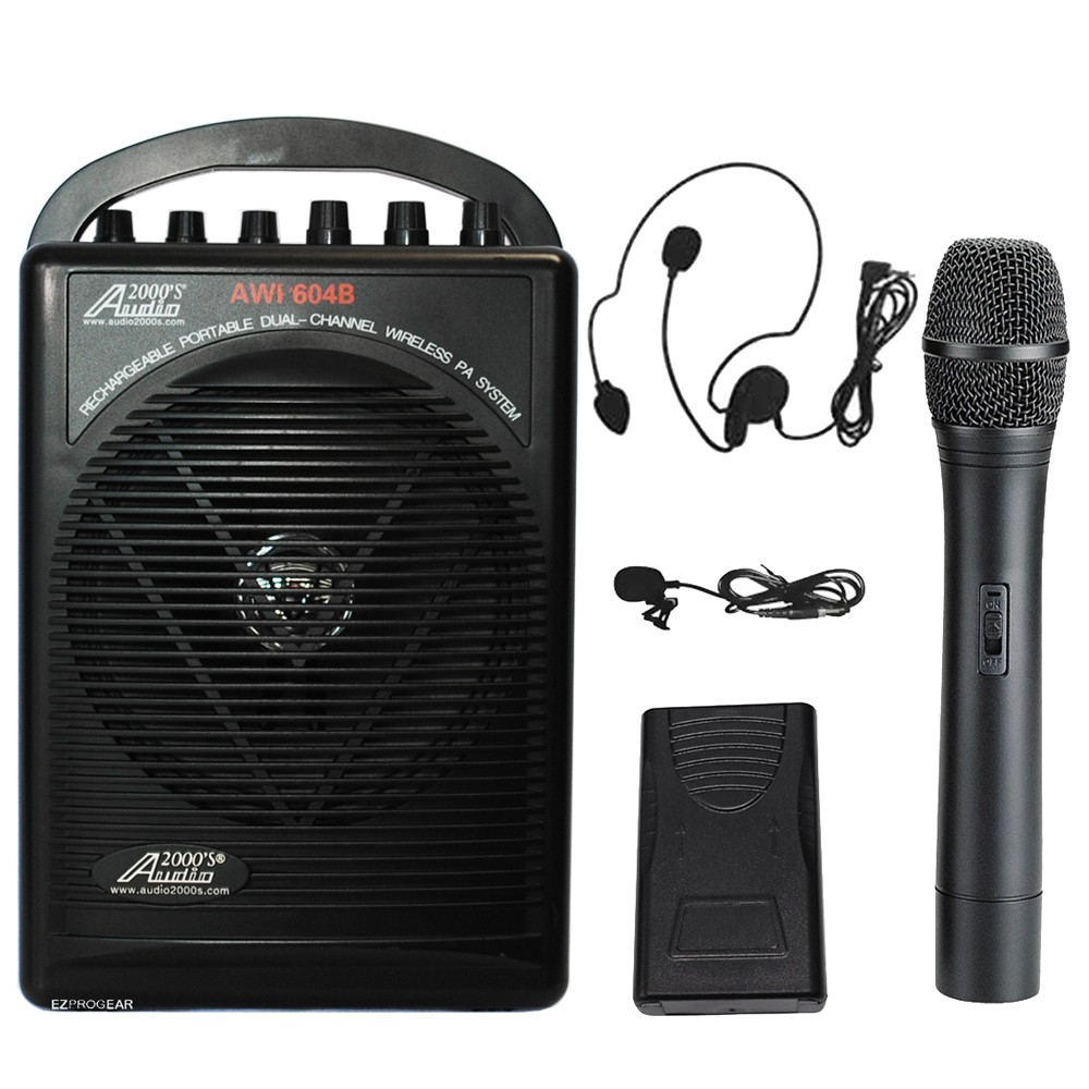 Audio2000 AWP-604BHL 25W Portable All-In-One Dual Channel...
