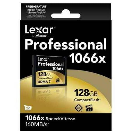 Lexar 128GB Professional 1066x CompactFlash Memory Card Lexar Compact Flash Card
