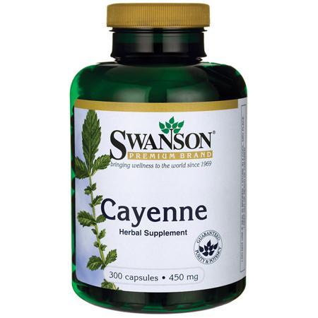 - Swanson Cayenne 450 mg 300 Caps