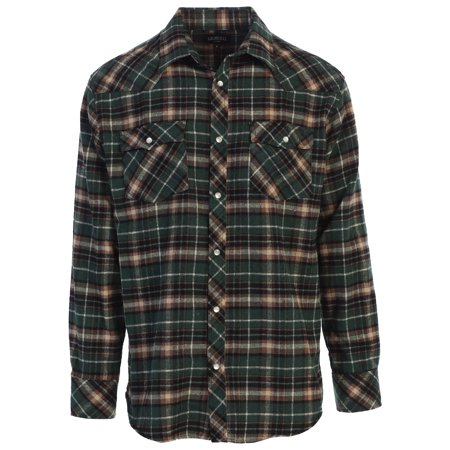 Autumn Flannel Autumn Flannel - Gioberti Men's Long Sleeve Flannel Shirt w/ Snap Button