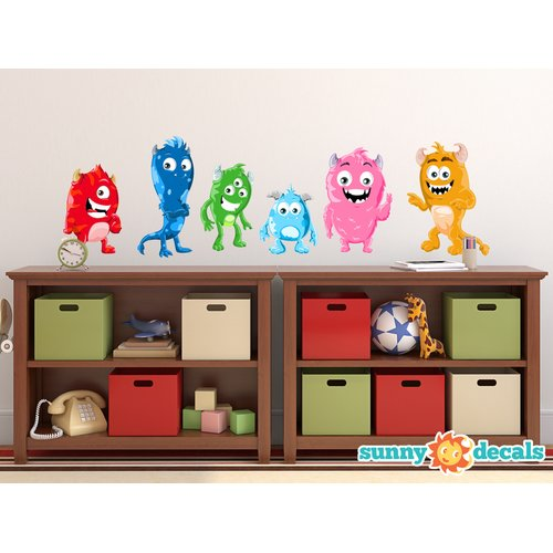 Sunny Decals Cute Monster Fabric Wall Decal