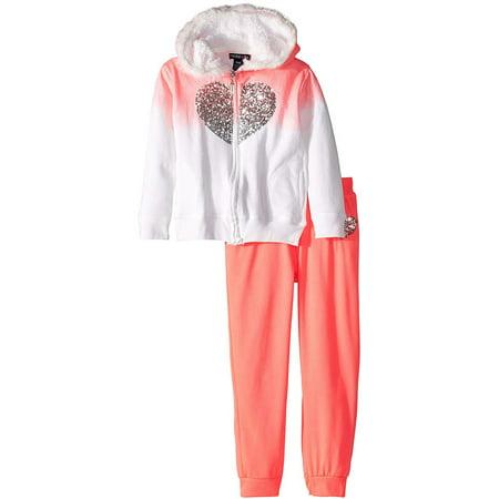 Zip-up Hoodie Sweatshirt & Fleece Jogger Pants, 2pc Outfit Set (Toddler Girls)