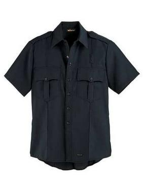 WORKRITE FR Short Sleeve Shirt,Navy,38 in.,Snaps 720NX45NB
