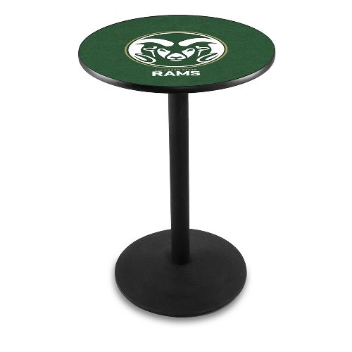 NCAA Pub Table by Holland Bar Stool, Black - Colorado State, 36'' - L214