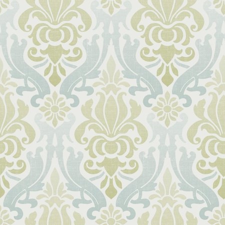 Brewster nouveau damask peel and stick wallpaper for Paintable peel n stick wallpaper