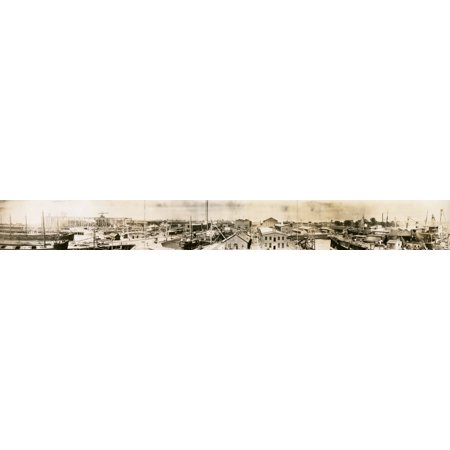 Panorama of Waterfront view of plant of Newport News Shipbuilding & Dry Dock Co Newport News Va Poster Print](Party City Newport News Va)