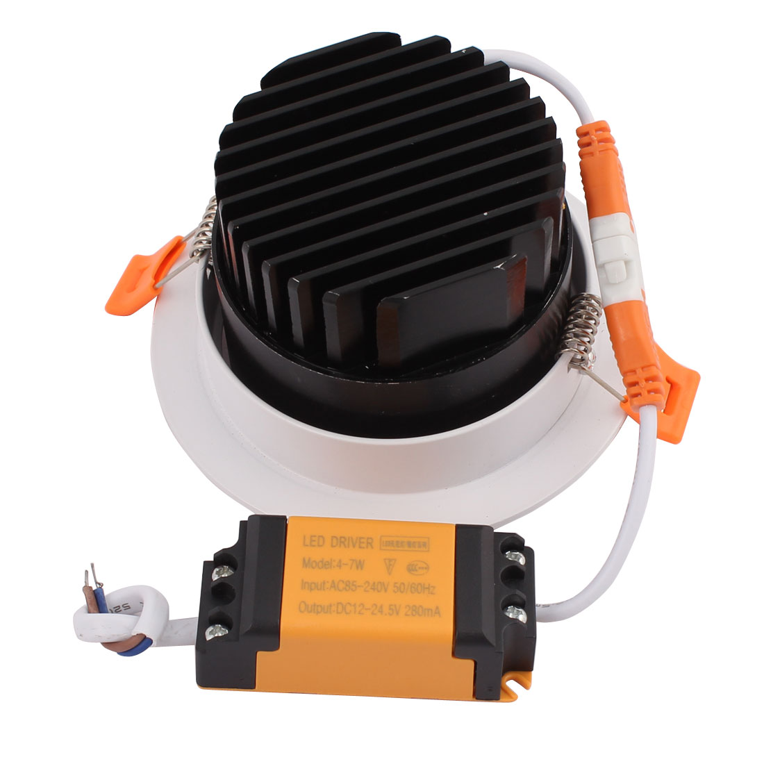 AC85-265V 7W 4000K 24 Degree White Black  COB Ceiling Lamp with  Driver - image 1 of 3