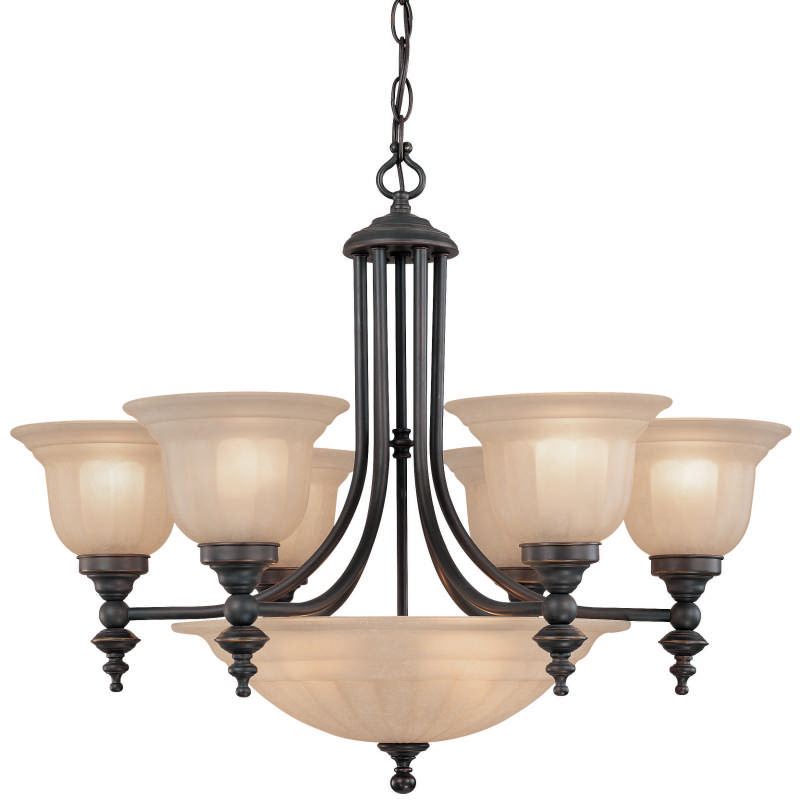 Dolan Designs 665 9-Light Up Lighting Chandelier from the Richland Collection