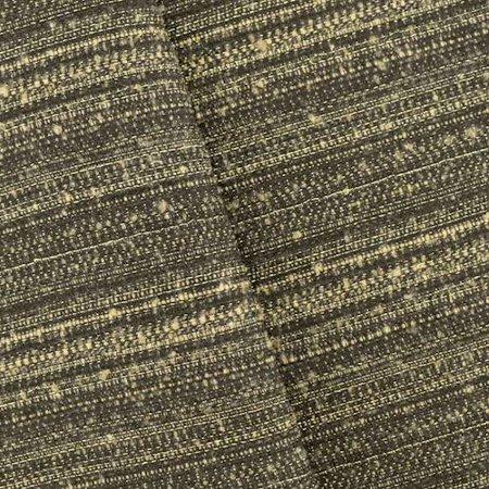 Black/Taupe/Metallic Gold Novelty Stripe Tweed Jacketing, Fabric By the Yard