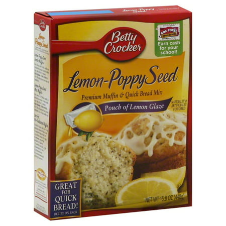 Image of Betty Crocker Sunkist Lemon-Poppy Seed Premium Muffin & Quick Bread Mix, 15.8 oz
