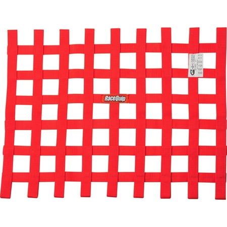 Racequip Safequip 18 X 24 In Rectangle Red Window Net P N 725015