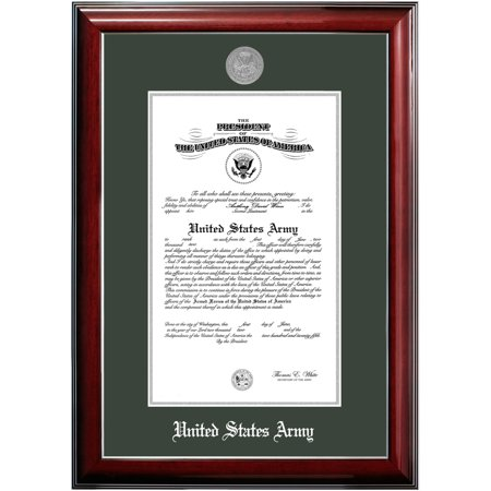 Patriot Frame's Army 8x10 Certificate Classic Mahogany Frame with Silver Medallion