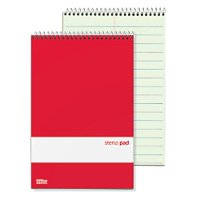 """Office Depot Brand Steno Notebooks, 6"""" x 9"""", Pitman Ruled, 80 Pages (80 Sheets), Red/White, Pack Of 12"""