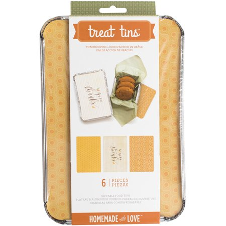 Homemade With Love Food Craft Tins Large 3/Pkg-Thanksgiving