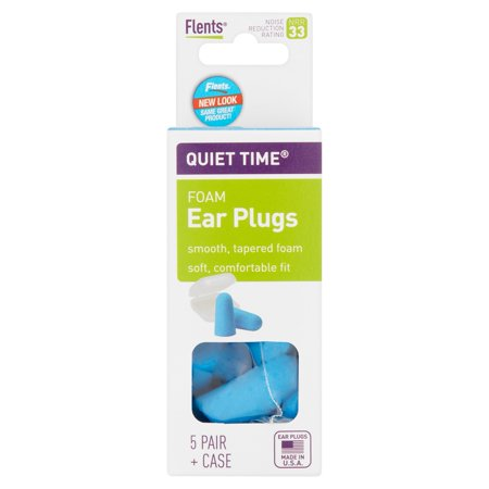 Flents Quiet Time Foam Ear Plugs With Case 10 Count