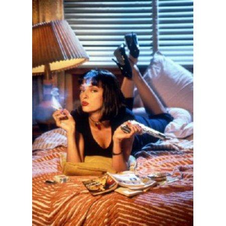 Pulp Fiction Movie Uma Thurman Metal Sign 8inx 12in - Uma Thurman Pulp Fiction Halloween
