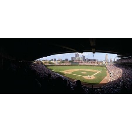 Chicago Bears Wrigley Field (High angle view of a baseball stadium Wrigley Field Chicago Illinois USA Canvas Art - Panoramic Images (15 x)