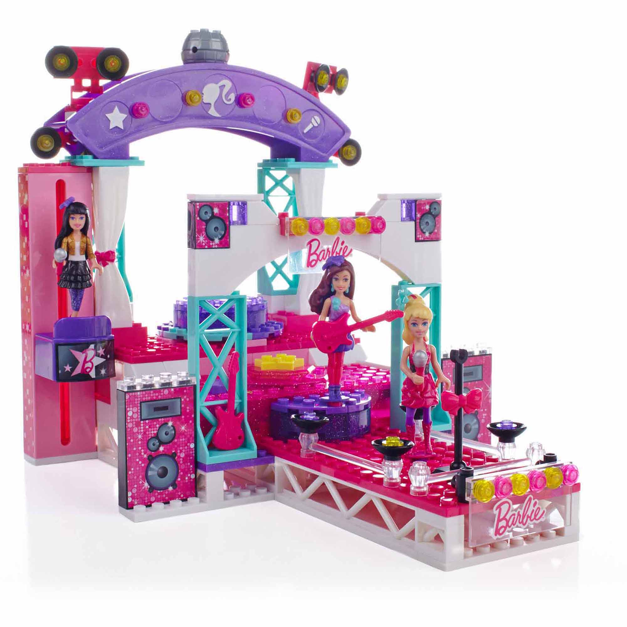Mega Bloks Barbie Build 'n Play Super Star Stage Play Set