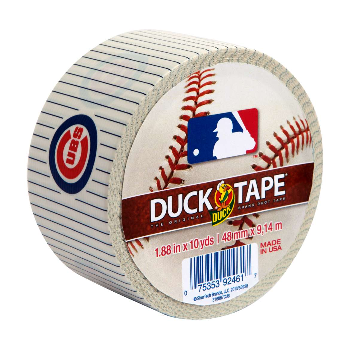 Duck Brand MLB Licensed Duct Tape, 1.88 in. x 10 yds., Chicago Cubs