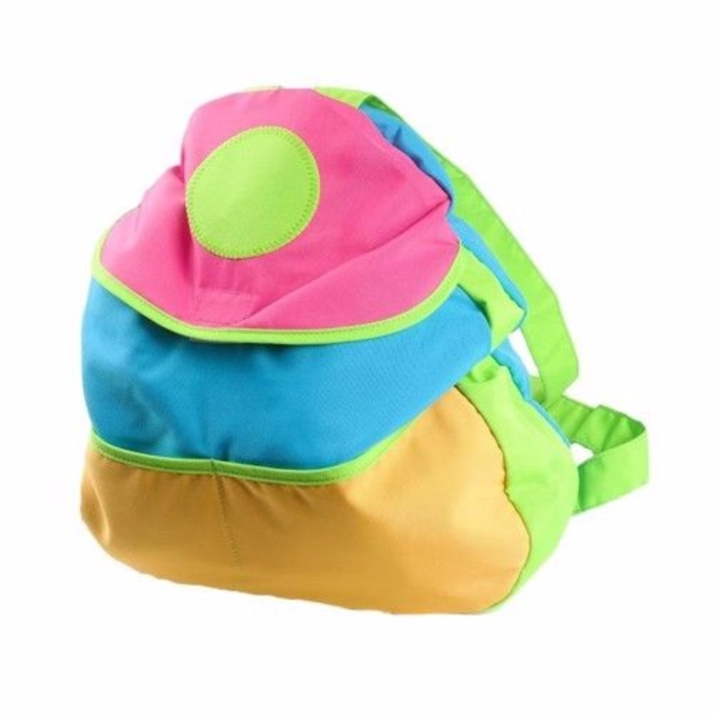 Colorful Kids 15 inch Backpack with Velcro Closure and Adjustable Straps by GearXS