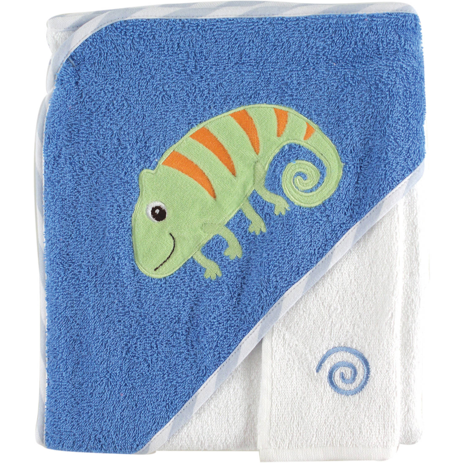 Luvable Friends Tropical Hooded Towel and Washcloth Woven, Choose Your Color by Luvable Friends