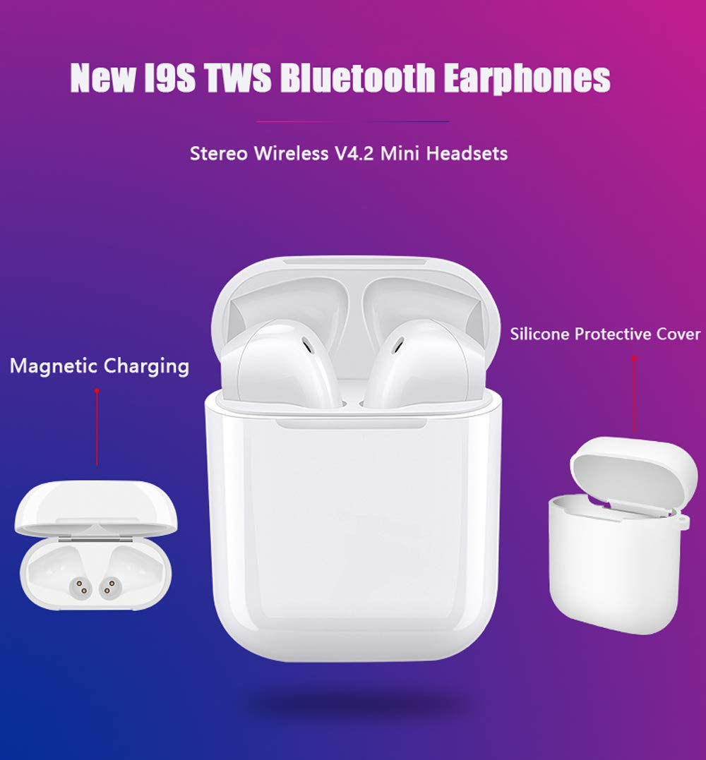 I9S TWS Bluetooth 4.2 Stereo in Ear Headphone, Portable Sports Wireless Earbuds for iOS & Android with Charging Box - image 1 de 2