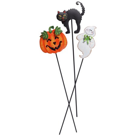 Halloween Planter Stakes, Set of 3 by Maple Lane Creations](Halloween Outdoor Stake Lights)
