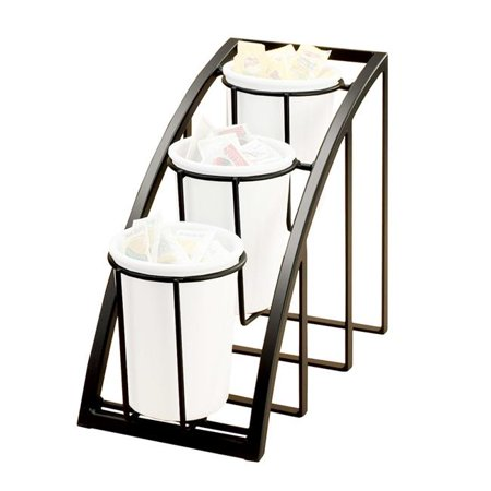Cal Mil 1746-3-39 Mission Silver Steel 3-Tier Upright Cylinder Display - 7 x 13 x 10.75 in. - image 1 de 1