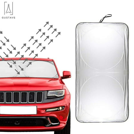 Truck Windshield (GustaveDesign Windshield Sun Shade Heat Block & UV Protection for Car SUV Trucks Minivan Sunshades Windshields (74.8