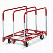 Raymond Products 3851 Panel Mover - 5'' Quiet Poly Casters  2 Fixed and 2 Swivel  3 Standard Uprights