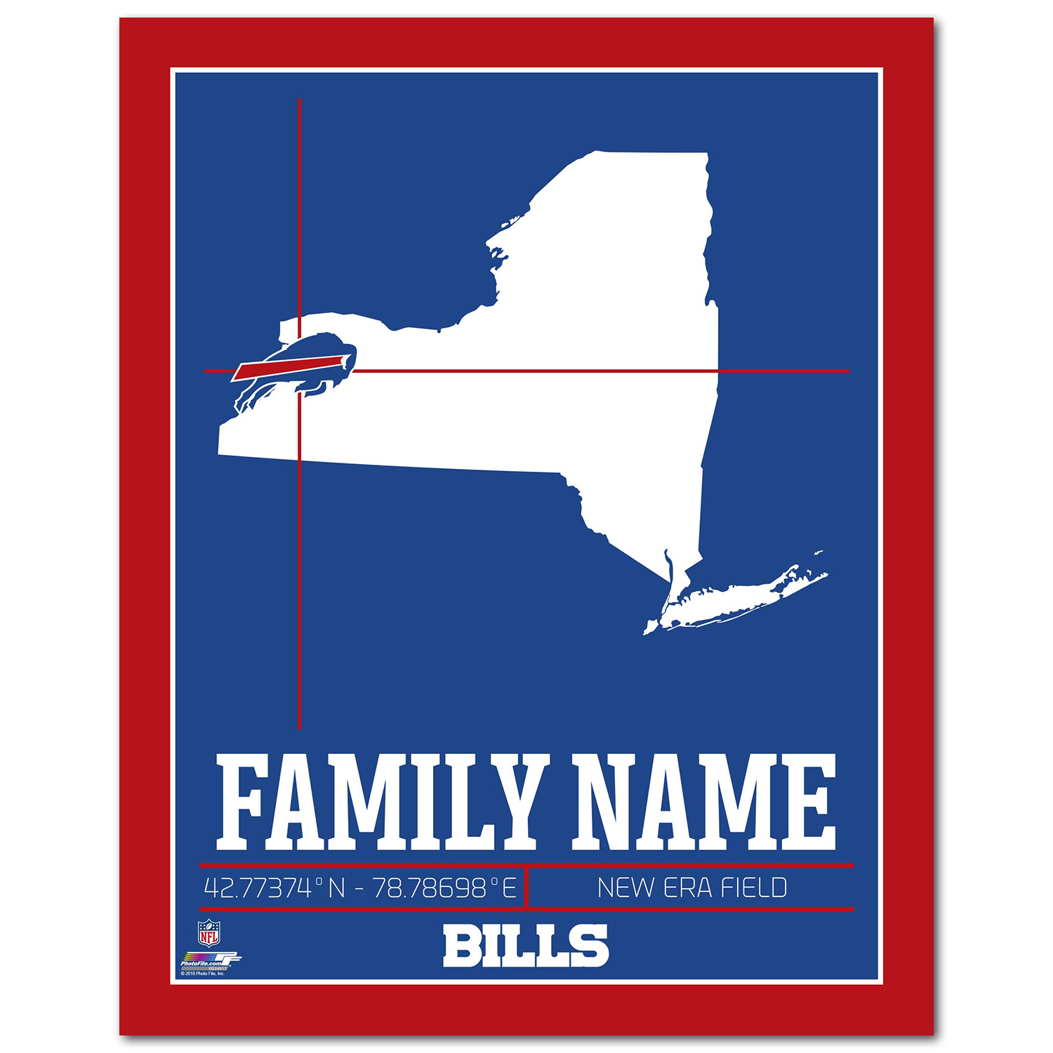 Personalized Nfl Buffalo Bills Family Name Stadium With