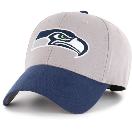 - Youth Fan Favorite Gray/College Navy Seattle Seahawks Two-Tone Adjustable Hat - OSFA
