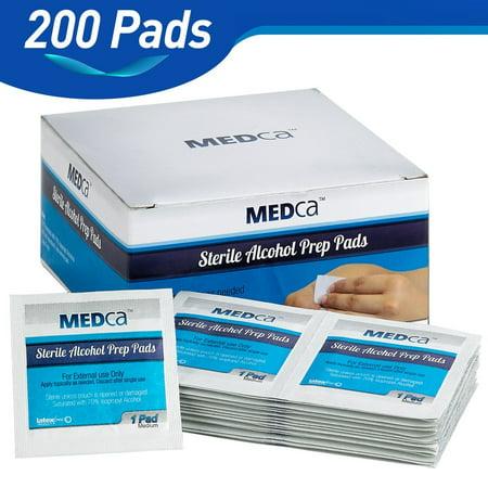 29c4c8b8c9c9a MEDca Alcohol Prep Pads, Sterile, Medium, 2-Ply (PACK OF 300) - Walmart.com