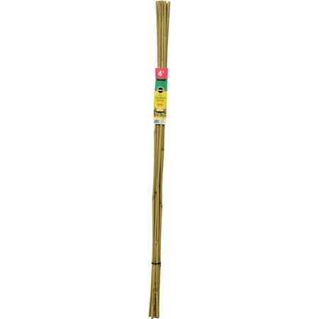 Scotts Miracle Gro 4' Natural Bamboo Stakes, 12-Pack (Garden Tool 4 Piece Set)