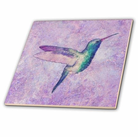 3dRose Abstract Hummingbird - Ceramic Tile, 4-inch